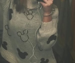 fashion, mickey mouse, and sweather image