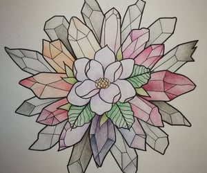 colorful, crystals, and drawing image