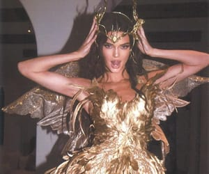 kendall jenner, gold, and Halloween image