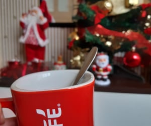 cafe, christmas tree, and coffee image