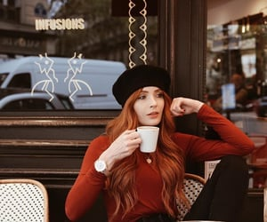 coffee and redhead image