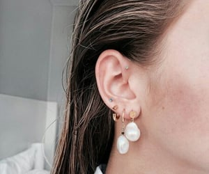 accessories, earrings, and girl image