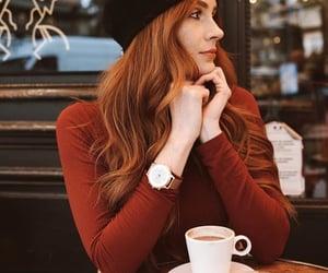 coffee, redhead, and watch image