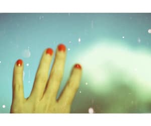 girl, orange, and hand image