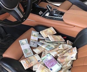 bmw, car, and money image
