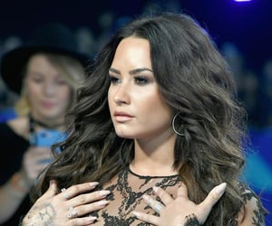 beautiful, woman, and lovato image