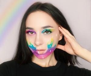 make up and rainbow image