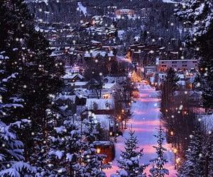 winter, christmas, and lights image