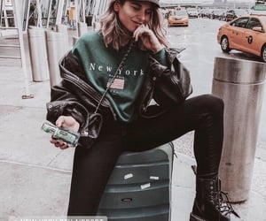 airport, travel, and fashion image