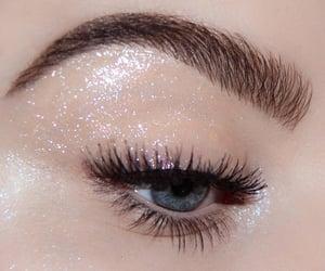 glitter, aesthetic, and eye image