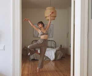 bedroom, dance, and girl image