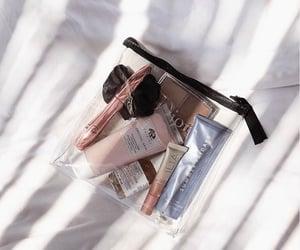 airplane, travel, and cosmetics bag image