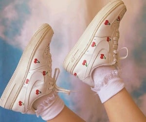 shoes, cherry, and nike image
