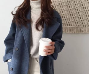 fashion, coffee, and outfit image