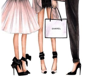 fashion, chanel, and drawing image