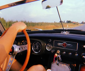 car, driving, and fields image