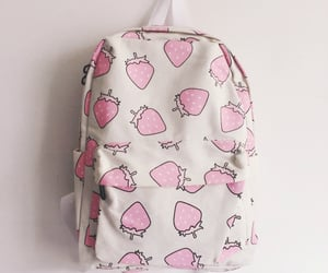 strawberry, pink, and bag image