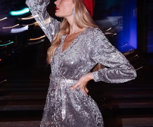 dress, silver, and quigley image