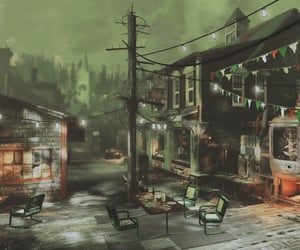 eerie, fallout, and fog image