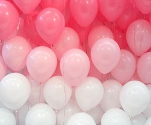 balloons, gradient, and pink image