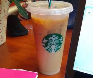 coffee, homework, and iced coffee image