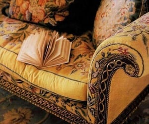yellow, book, and sofa image
