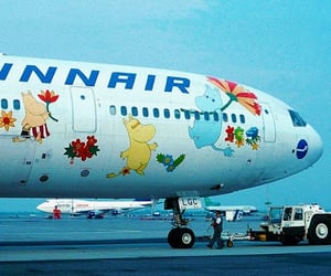 aesthetic, airplane, and cartoon image