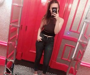 black jeans, petite, and victoria's secret top image