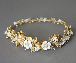accessories, flowers, and hair image