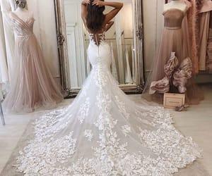dresses, fashion, and wedding dress image