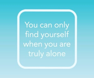 alone, quotes, and loneliness image