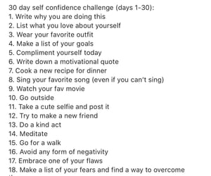 challenge, confidence, and confident image
