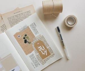 aesthetic, beige, and bujo image