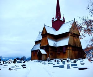 church, lost, and winter image