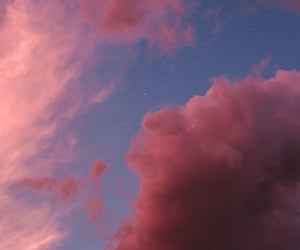 clouds, galaxy, and lights image