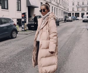 boots, down jacket, and fashion image