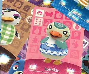 animal crossing, cards, and sparkly image