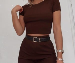 accessories, brown, and clothes image