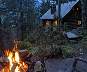 cottage, nature, and travel image