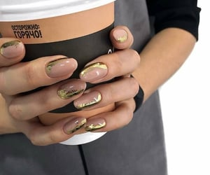 beauty, hands, and coffee image