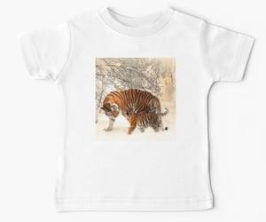 snow, tiger cub, and big cats image