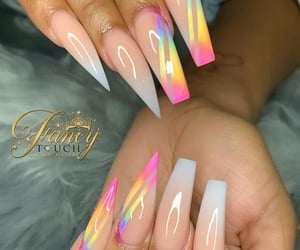 nails, white, and colorful image