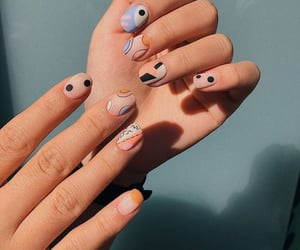 nails, colors, and girl image