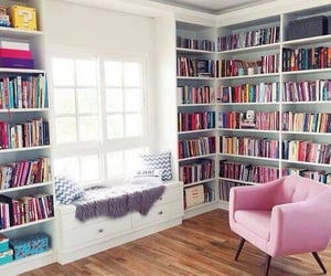 bedroom, books, and girl image