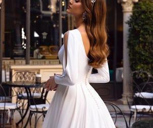 wedding, wedding dress, and wedding gown image