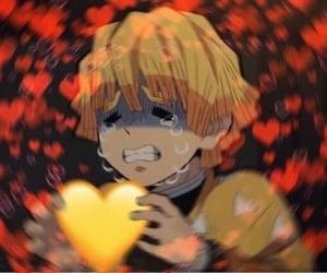 anime, heart, and demon slayer image