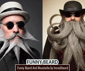 beard, mustache, and funny image