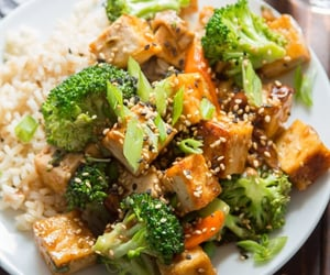 tofu, vegan, and vegan food image