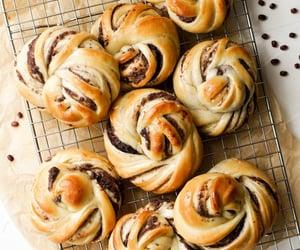 bread, bun, and chocolate image