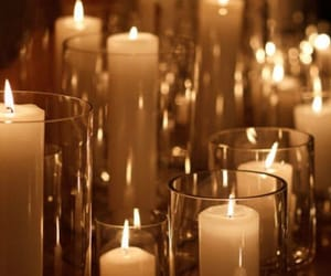 candles, decor, and glass image